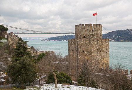 hisari: Rumelihisarı fortress in Istanbul, Turkey, on a hill at the European side of the Bosphorus