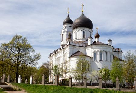archangel: Ancient Cathedral of St. Archangel Michael in Lomonosov (Oranienbaum), Russia Stock Photo