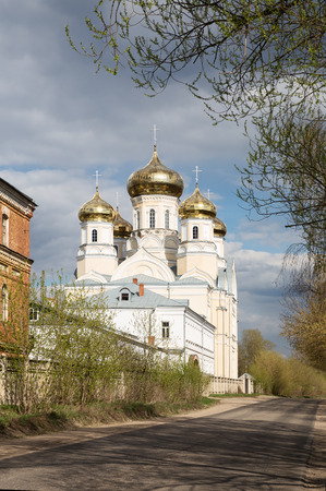 Orthodox convent Our Lady of Kazan in Vyshny Volochyok, Russia. Andronikova Church of Our Lady of Sorrows.