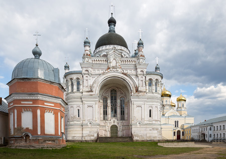 eclecticism: Orthodox convent Our Lady of Kazan in Vyshny Volochyok, Russia Stock Photo