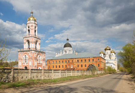 convent: Orthodox convent Our Lady of Kazan in Vyshny Volochyok, Russia Stock Photo