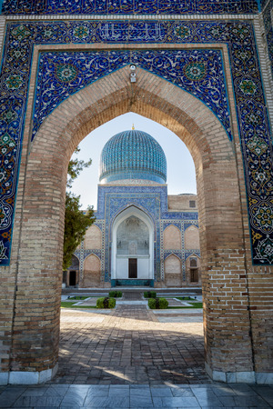 Guri Amir is a mausoleum of the Asian conqueror Tamerlane (also known as Timur) in Samarkand, Uzbekistan
