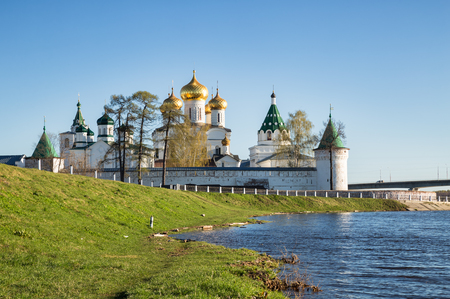 kostroma: Golden Ring, Russia. View of the Ipatiev monastery from the bank of the Kostroma river