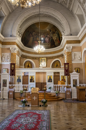 SAINT-PETERSBURG, RUSSIA - OCTOBER 14, 2017: Interior of the Church of St. Catherine at the Academy of Arts