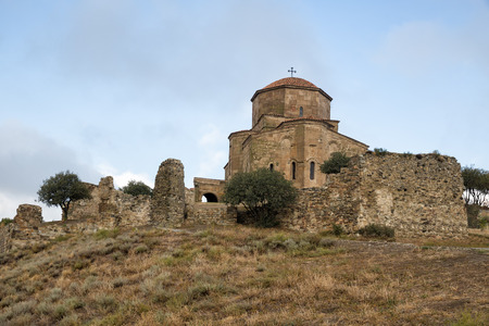 Ancient Jvari Monastery, 6th century, on the mountain near Mtskheta, Georgia