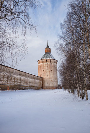 Ferapontovskaya (Moscow) Tower (1660) of the Kirillo-Belozersky Monastery, Vologda Region, Russia