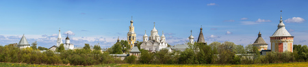 Panoramic view of Spaso-Prilutsky Monastery in Vologda, Russia Фото со стока