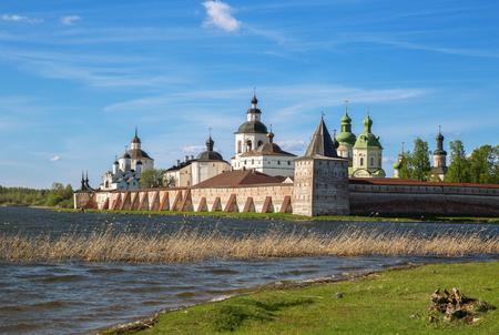 View of the Kirillo-Belozersky Monastery on the shore of Siversky Lake, Kirillov, Vologda region, Russia