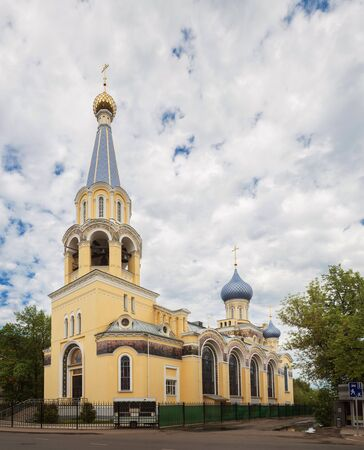 Yaroslavl, the Church of John the Postnik and Andrew of Crete. A beautiful temple of the early 20th century in the eclectic style. Golden ring of Russia