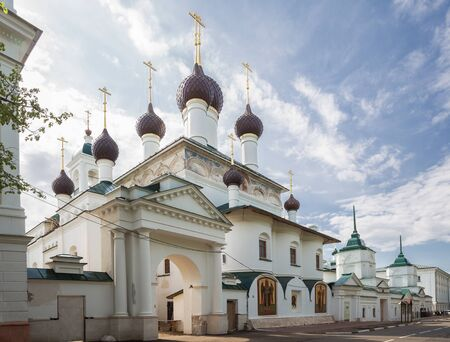 Cyril and Athanasius monastery in Yaroslavl on a summer sunny day. Church of the Savior of the Miraculous Image. Golden ring of Russia 写真素材