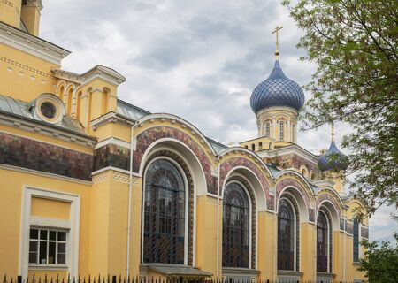 Yaroslavl, the Church of John the Postnik and Andrew of Crete. A beautiful temple of the early 20th century with large stained glass windows. Golden ring of Russia 写真素材