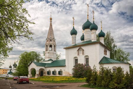 Yaroslavl, Church of St. Nicholas the Wonderworker (St. Nicholas Chopped City). Golden ring of Russia 写真素材 - 134720485