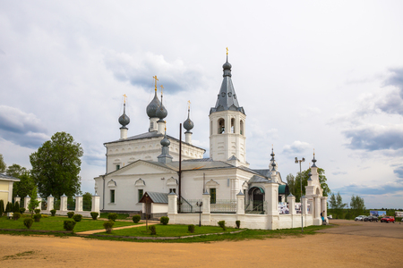 GODENOVO, YAROSLAVL REGION, RUSSIA - MAY 12, 2019: Place of pilgrimage is the Church of St. John Chrysostom, in which is located most revered miraculous Godenovsky Cross Redactioneel