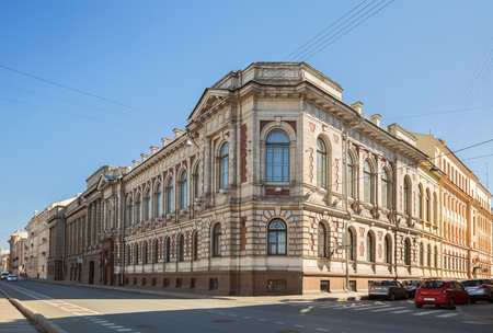Historical building of the loan treasury on the Fontanka River embankment was built in 1900, now it is part of the complex of buildings of the Central Bank of the Russian Federation 報道画像