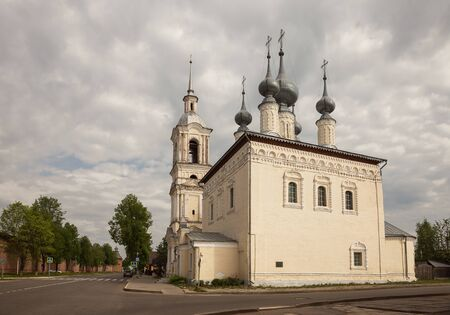 Church of Smolensk Icon of the Mother of God in Suzdal. Ancient Russian five-domed church was built around 1700. Suzdal, Golden Ring of Russia 写真素材