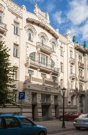 Riga Art Nouveau (Jugendstil), house 4 on Alberta Street (Alberta iela), architect M.Eyzenshteyn