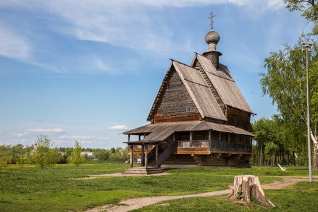 Suzdal, Golden Ring of Russia. Ancient wooden church of St. Nicholas the Wonderworker in Suzdal Kremlin 報道画像