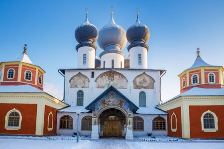 Tikhvin Assumption Monastery, cathedral of the Dormition of the Mother of God, Leningrad region, Russia