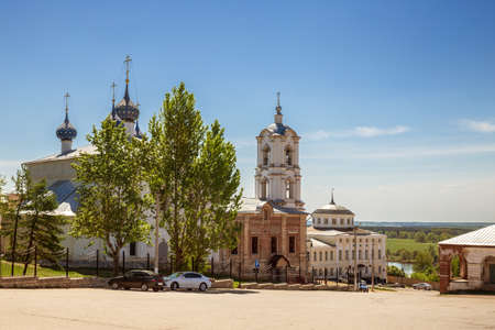 Cathedral Square with the Assumption Church in the center of Kasimov town, Ryazan region, Russia 免版税图像