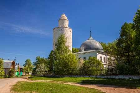 Khan's mosque with minaret in the center of Kasimov town, Ryazan region, Russia