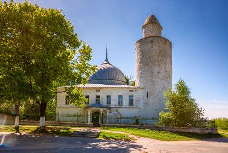 Khan's mosque with a minaret in Kasimov town, Ryazan region, Russia