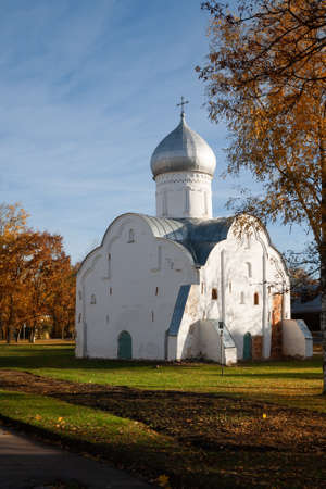 Church of St. Blasius a typical monument of Novgorod architecture, Novgorod the Great, Russia
