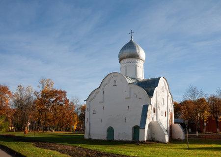 Ancient 1407 built St. Blasius Church, Veliky Novgorod, Russia