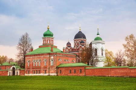 Spaso-Borodinsky monastery near Borodino field, site of the Battle of Borodino, Moscow region, Russia 免版税图像