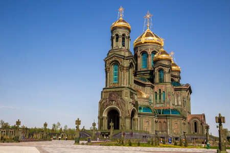 Church of the Resurrection in Patriot Park, main temple of the Armed Forces of Russia, Moscow region