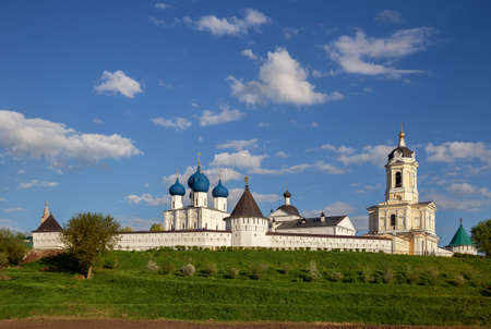 Serpukhov, Vysotsky monastery, general view on a sunny day. Moscow region, Russia