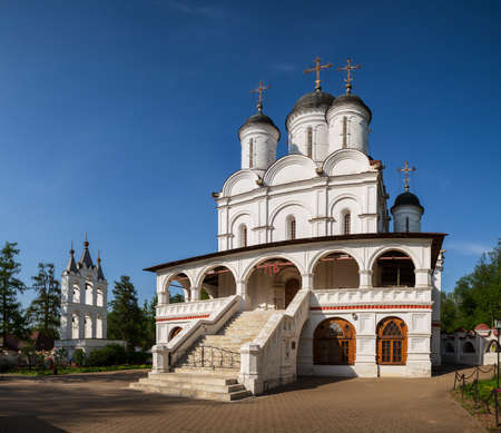 Church of the Transfiguration of the Savior with belfry in village of Bolshiye Vyazemy, Moscow region, Russia