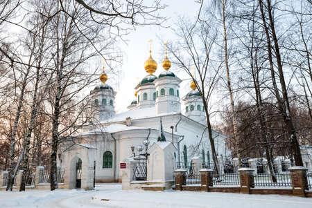 Resurrection Cathedral mid 18th century in winter, Cherepovets, Vologda region, Russia