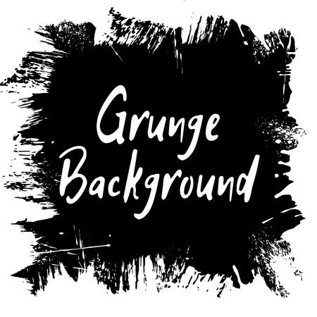grunge frame: Grunge frame background with hand drawn ink spots and splash for design vector illustration