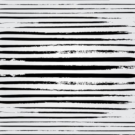 brushstroke: Hand drawn brushstroke lines pattern background vector illustration. Abstract hand drawn background