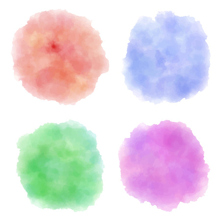 set of watercolor texture