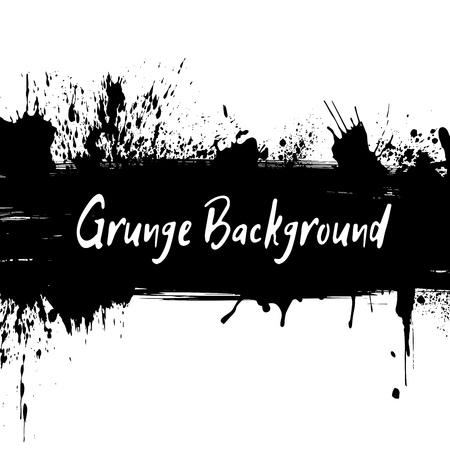 desig: Grunge ink background with hand drawn spots and splash for desig Illustration