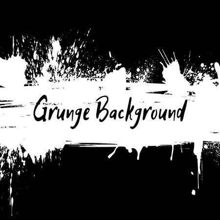 desig: Grunge background with hand drawn ink spots and splash for desig
