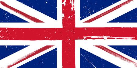 Grunge stylef flag of Great Britain
