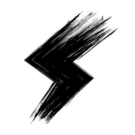 Set of ink  modern label, logo grunge circle brushstroke design vector illustration Illustration