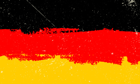 Grunge styled flag of Germany with spots vector illustration