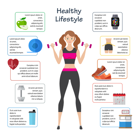 Healthy lifestyle infographics.