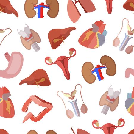 Simple human internal organs flat icons Vector Illustration