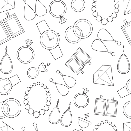 Background with simple jewelry icons