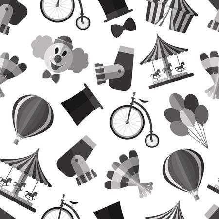 Simple circus symbols flat icons 向量圖像