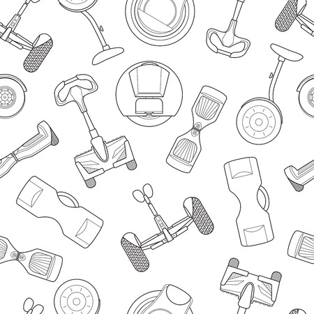 Simple gyroscooter line art icons