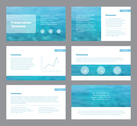Infographics templates for presentations.
