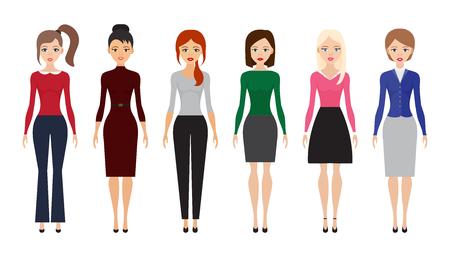 Set of women attire icons