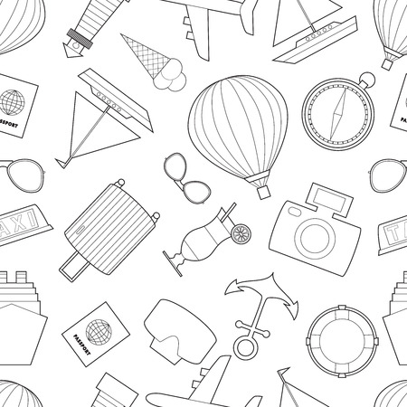 line art  icons on white backdrop