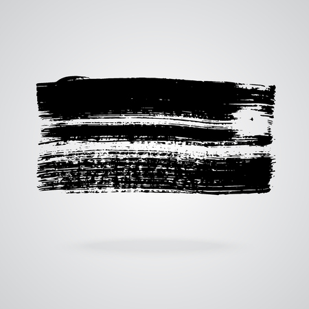Black brush stroke banner texture illustration. Grunge abstract background Imagens