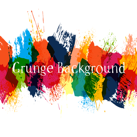 Color grunge background with hand drawn ink spots and splash for design  illustration
